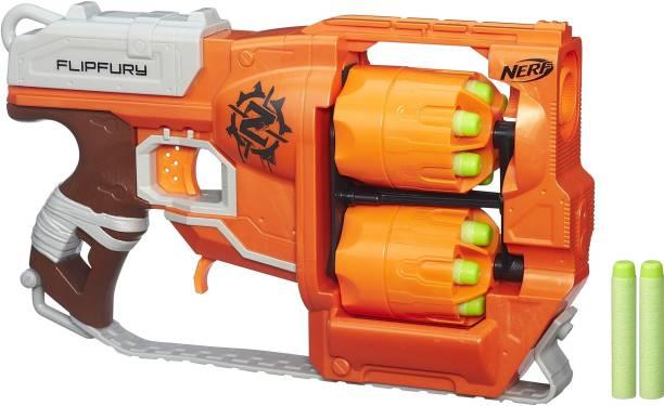 Nerf FlipFury Zombie Strike Toy Blaster,2 Flipping Drums Guns & Darts