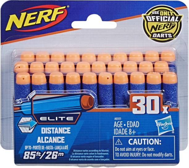 Nerf Official 30 Dart Elite Refill Pack for N-Strike Elite AccuStrike Zombie Strike Modulus Toy Blasters Darts & Plastic Bullets