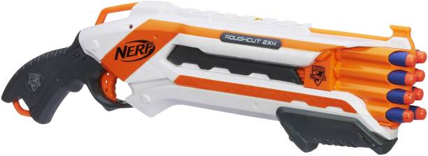 Nerf Rough Cut 2x4 Elite Blaster,8-Dart Capacity Guns & Darts