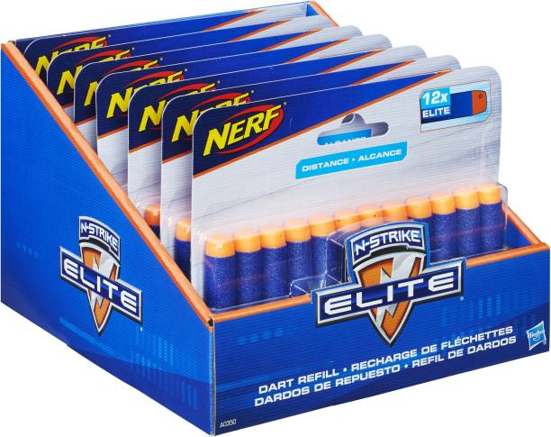 Nerf Official 12 Dart Elite Refill Pack for N-Strike Elite Toy Blasters Darts & Plastic Bullets