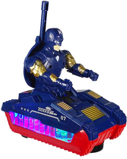 Planet of Toys Electric Soldier Tank With Light,Music For Kids, Children