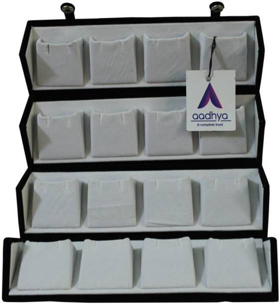 Aadhya 16 pair earring stuids storage box Vanity Box