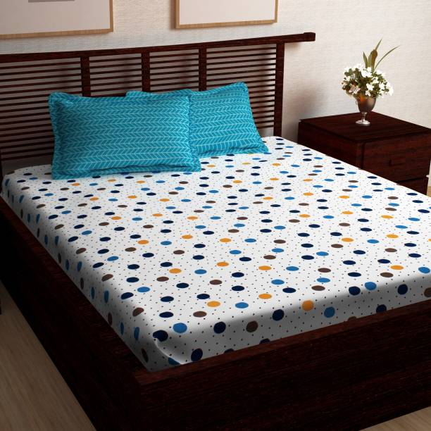 Story@home 120 TC Cotton Double Printed Bedsheet