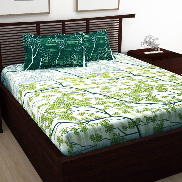 Story@home 120 TC Cotton Double Abstract Bedsheet