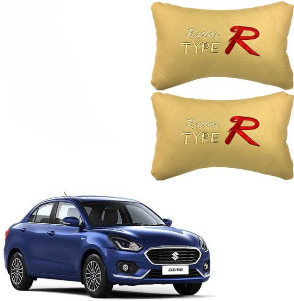 PulGos Beige Leatherite Car Pillow Cushion for Maruti Suzuki
