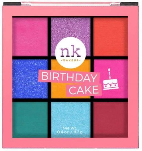 Nicka K NINE COLOR EYESHADOW PALETTE - BIRTHDAY CAKE 11.7 g