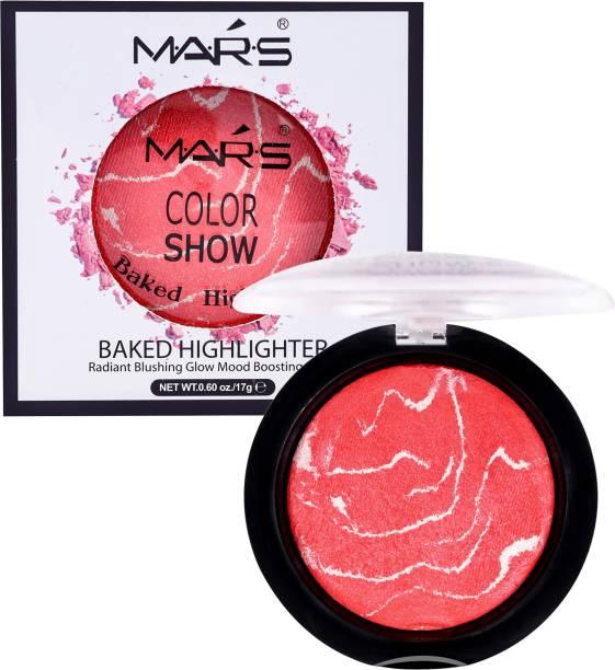 MARS Baked Highlighting Powder Palette with under eye cream  Highlighter