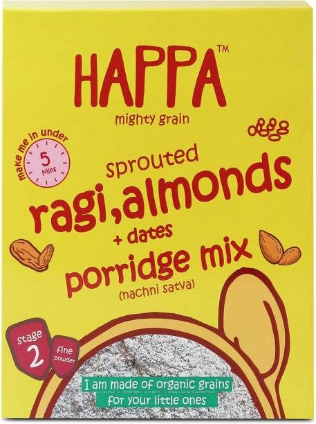 Happa Mighty Grain Sprouted Ragi Almonds&Dates Porridge Mix, baby food Cereal