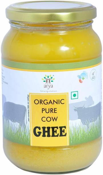 ARYA Certified Organic Pure Cow Ghee 500 ml 500 ml Glass Bottle