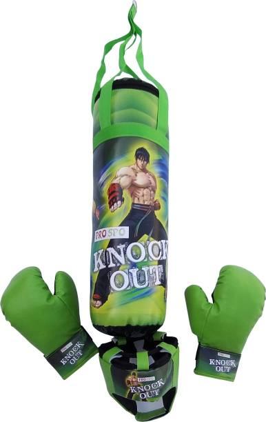 PROSPO Knock Out Green Boxing Set Boxing Kit