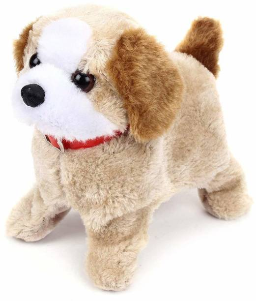 UK Enterprise Jumping Dog, Barking, Waging Tail, Walking and Jumping Puppy, Battery Operated Back Flip Jumping Dog with Sound and Music Best Gift for Toddlers and Kids