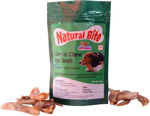 PET LIKES Natural Bite (Natural Dental Treats) - Pack of 5 Beef Dog Treat