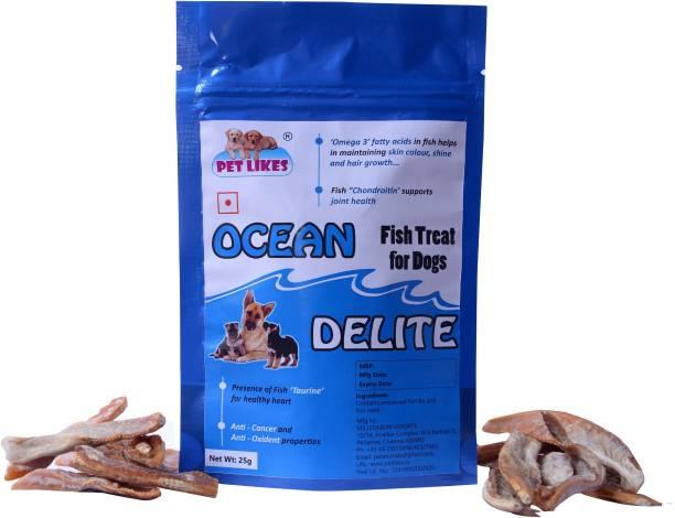 PET LIKES Ocean Delite (Fish Dog Treat) - Pack of 5 Fish Dog Treat