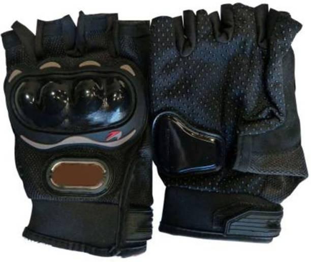 Mototrance Bike Racing Half-Finger Pro-Biker Motorcycle Riding Bike Gloves (L) Riding Gloves