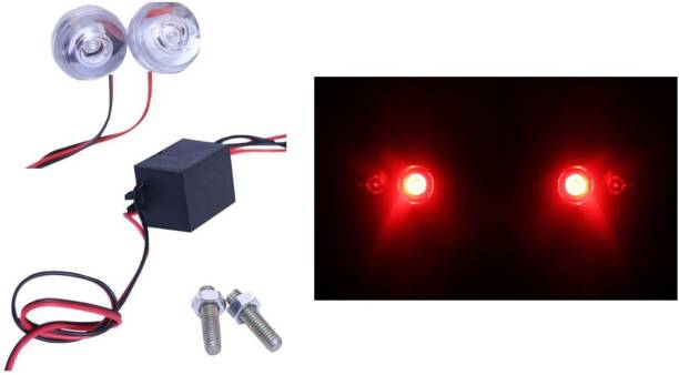 Grab Them All Strobe/Brake/Hazard Light for Bikes and Cars(Pack of 2, Red) Car Fancy Lights