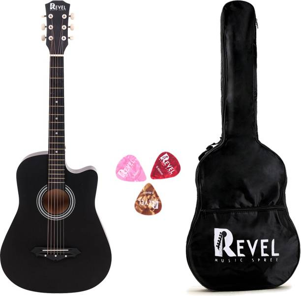 REVEL RVL-38C-LGP-BK Linden Wood Acoustic Guitar
