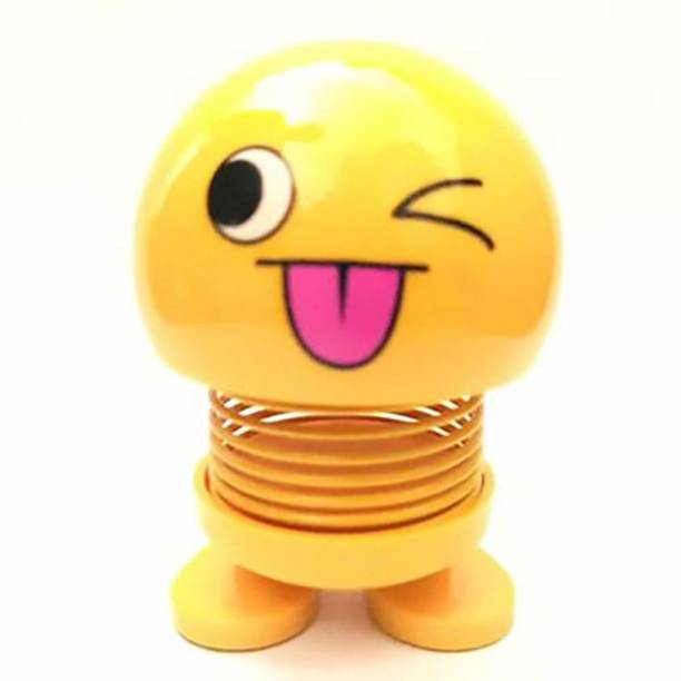 OsRpE 1Pcs Cute Emoji Bobble Head Dolls, Funny Smiley Face Springs Dancing