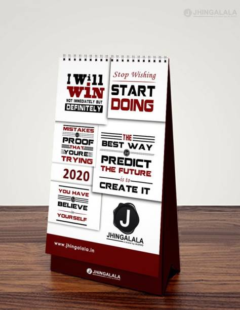 Jhingalala Motivational Quotes Printed Table Calendar, Desk Calendar and Planner 2021 Table Calendar