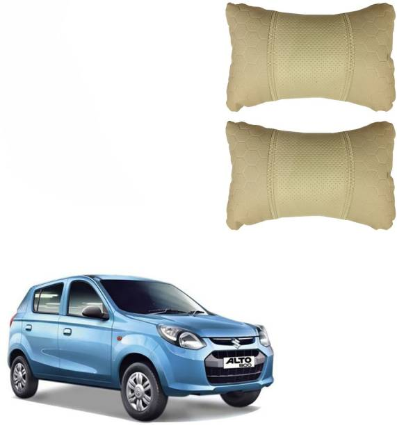 PulGos Beige Leatherite Car Pillow Cushion for Maruti Suzuki