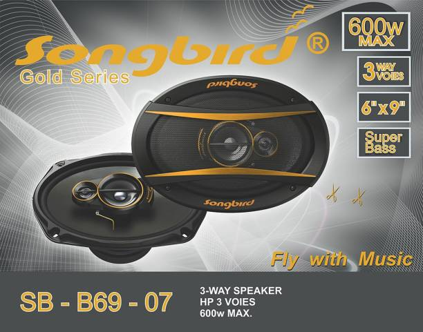 songbird 6''x9'' Oval 600W Max 3 way GOLD SERIES SUPER BASS SB-B69-07 Coaxial Car Speaker