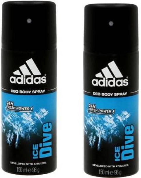 ADIDAS Ice Dive Deodorant Body Spray Pack of 2 Body Spray  -  For Men & Women