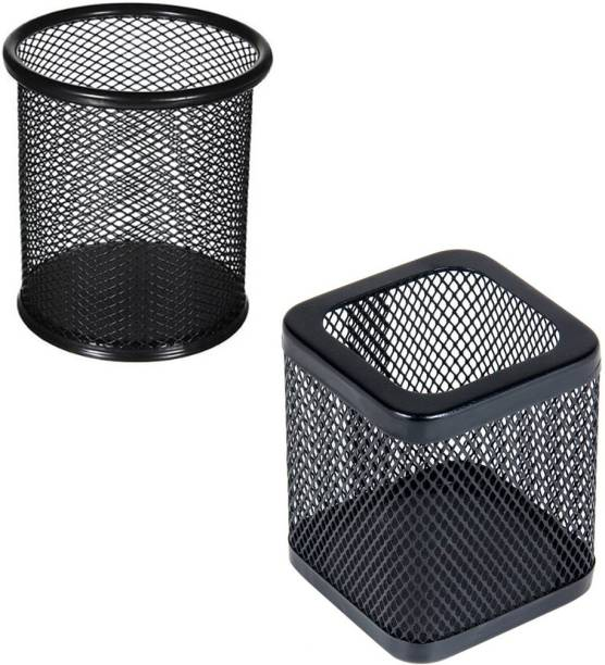 PANKU 2 Compartments Mesh Body Pen Stand