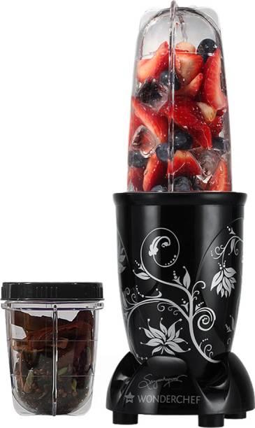 WONDERCHEF Nutri Blend Nutri-Blend 400 W Juicer Mixer Grinder (2 Jars, Black)