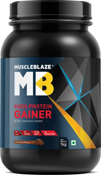 MUSCLEBLAZE High Protein Lean Mass Gainer (Chocolate, 1 Kg / 2.2 lb) Weight Gainers/Mass Gainers