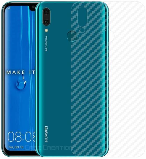 ACUTAS Back Screen Guard for Protector Film Carbon Fiber Finish Ultra Thin Scratch Resistant Safety Protective Film For Huawei Y9 2019