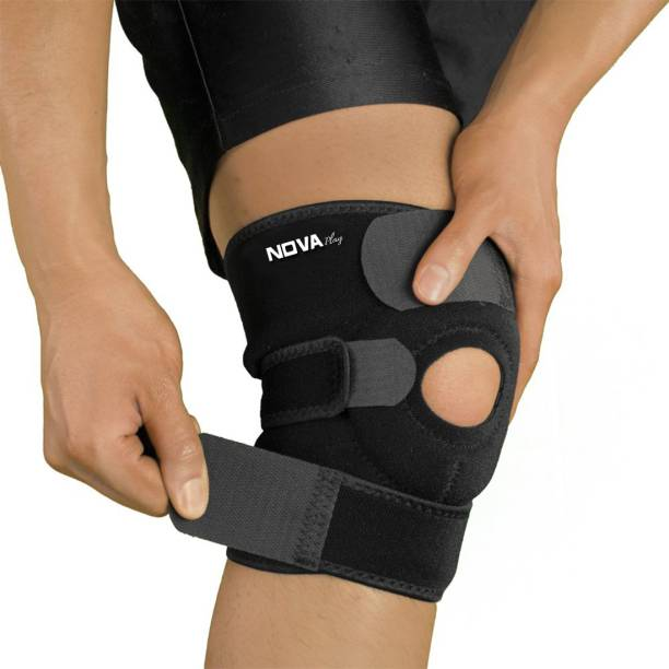 Nova Play Neoprene Padded Adjustable Knee Guard , Knee Cap Support Knee Support