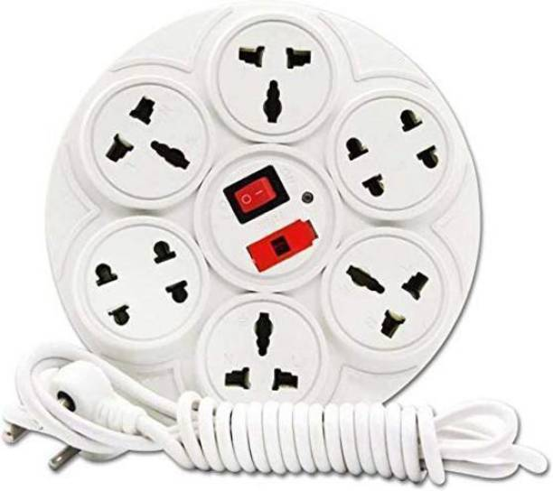IGADG Multi Outlet 4 + 4 2-Pin and 3-Pin Extension Cord with 3.6 ft Wire and Fuse 8  Socket Extension Boards