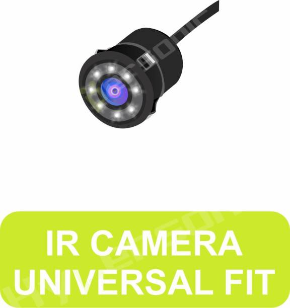 Hypersonic 8 IR LED CAR REAR VIEW MOVING WATER PROOF NIGHT VISION HD CAMERA WITH 1 YEAR WARRANTY IR LED CAr RER VIW MOVNG WATER PROF NIT VISION HD Vehicle Camera System
