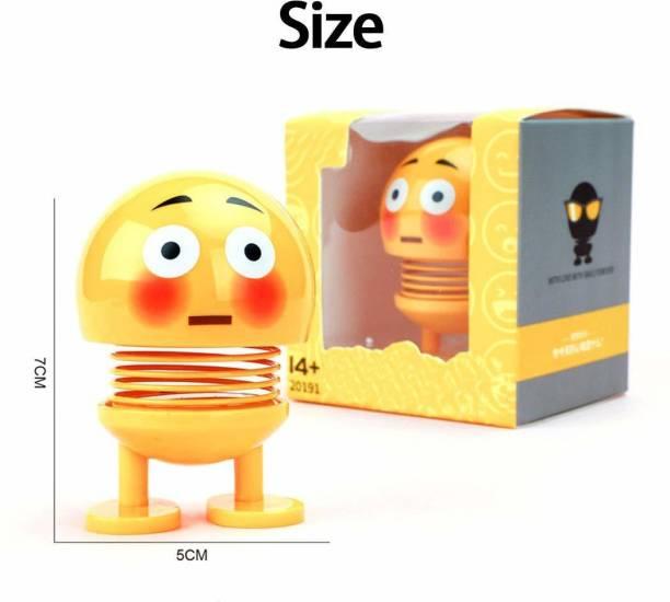 Universal SMILEY / EMOJI SPRING BOBBLE HEAD PACK OF 2 (Yellow)