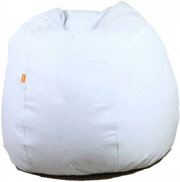 ORKA XXXL Classic Teardrop Bean Bag With Bean Filling   White