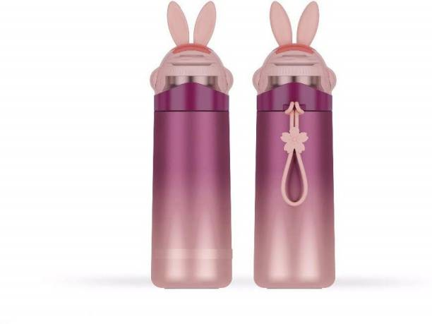 CherryBox Rabbit Bunny Maroon Colour - Stainless Steel Kids & Adults - Thermos Bottle 350 ml Flask