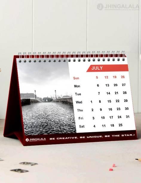 Jhingalala Table Calendar, Desk Calendar and Planner 2021 Table Calendar