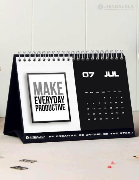 Jhingalala Inspirational Quotes Printed Table Calendar, Desk Calendar and Planner 2021 Table Calendar