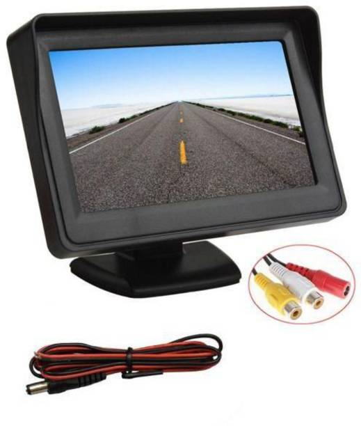 Auto Snap Parking Assistance 4.3 Inch Tft Lcd Monitor With 8 Led Night Vision Car Reverse Camera Combo Black LED