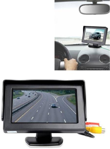 Auto Snap 4.3 Inch Rear View Digital TFT Dashboard Screen with 8 LED Night-Vision Waterproof Rear View with HD Camera Black LED