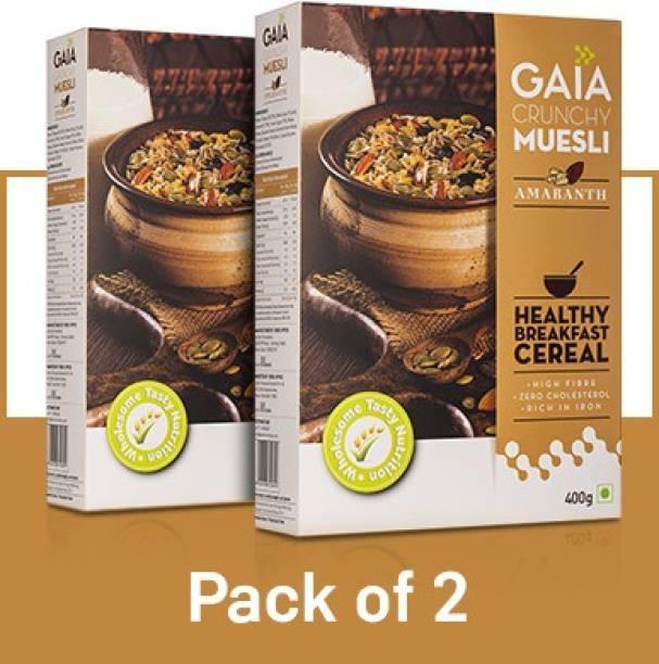 GAIA Crunchy Muesli Amaranth Zero Cholesterol 400 gm