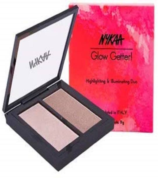 Nykaa Glow Getter Highlighting & Illuminating Duo - 24K Glam 01 (9gm) Compact