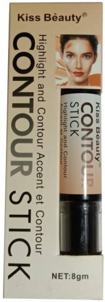 Kiss Beauty Stick Highlight and Contour-9884-B Highlighter (Ivory White +Light Brown) Concealer