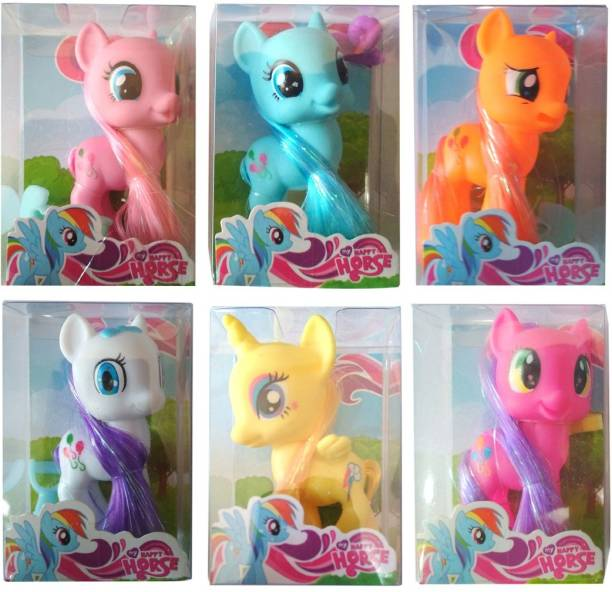 HALO NATION My Little Pony Friendship is Magic , Height 9cm - Set of 6