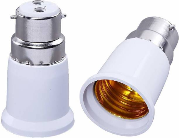 SHAFIRE Screw Base Socket Ceramic Lamp Holder Light Bulb Adapter (White, 2-Piece) Plastic Light Socket