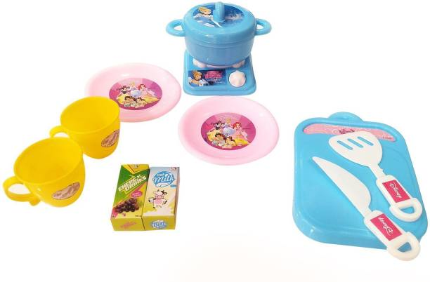DISNEY Princess Cinderella Role Play Kitchen Set for Kids