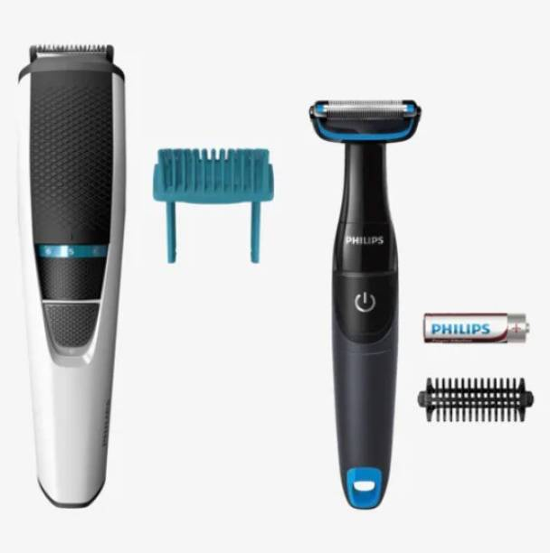 PHILIPS BT3203/85 Beard Trimmer + Body Groomer Combo Kit Pack  Runtime: 45 min Trimmer for Men