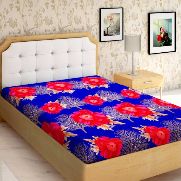 IWS 144 TC Microfiber Single Floral Bedsheet