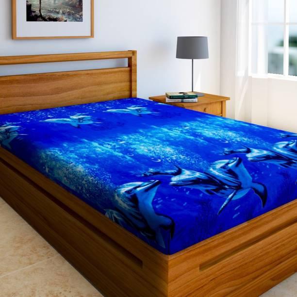 Bombay Linen 144 TC Microfiber Single 3D Printed Bedsheet
