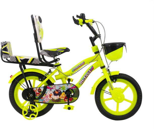 Hi-Fast Cycle For Kids with Training Wheels (Semi Assembled) 14 T Road Cycle