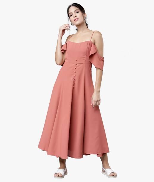 Tokyo Talkies Women A-line Pink Dress